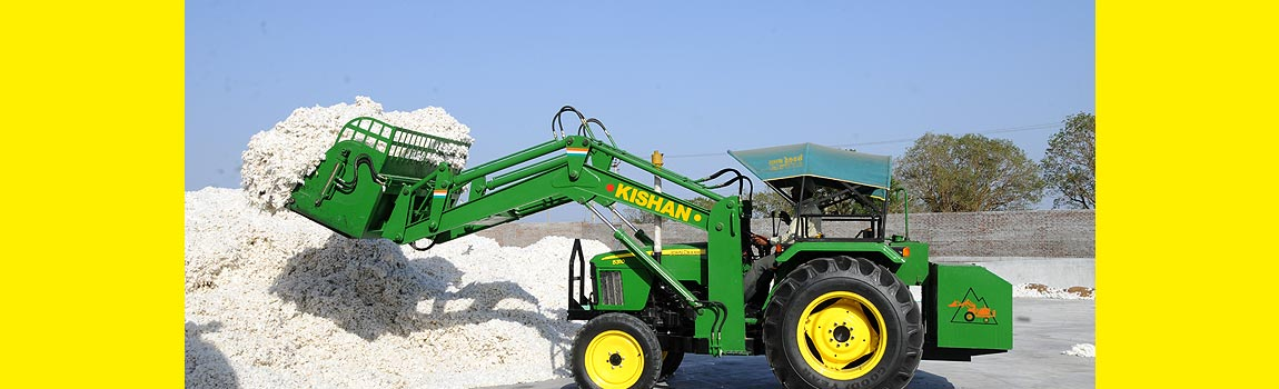 Hydraulic Solution for Cotton Industry, Moving raw cotton and cotton bales is no more a hassle with Kishan Hydraulics loader solutions.