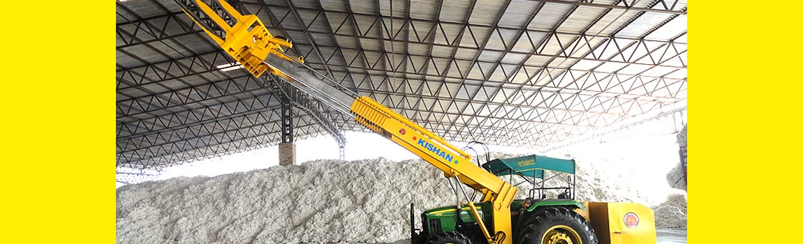 Telescopic Loader for Cotton Industry, Kishan Equipments's new invention especially for cotton ginners. Telescopic Loader for unloading cotton...