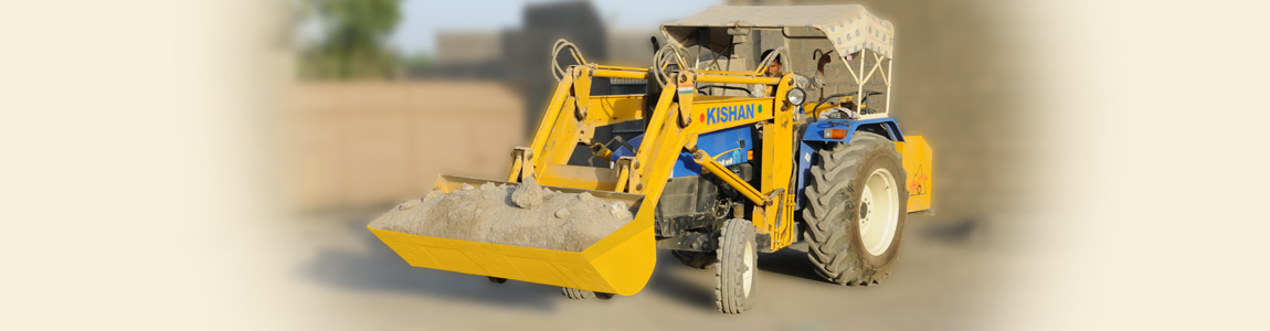 Tractor Mounted Front End Loader for Raw Material