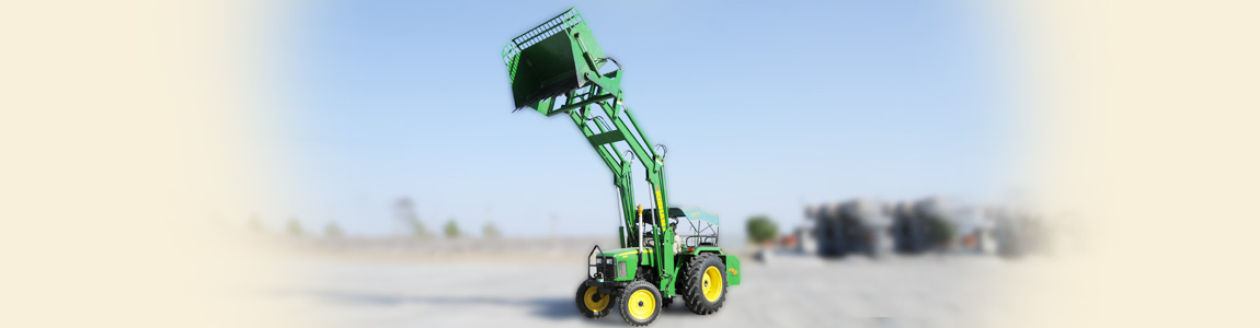 Hydraulic Tractor Loader for Cotton Industry | Kishan Equipments
