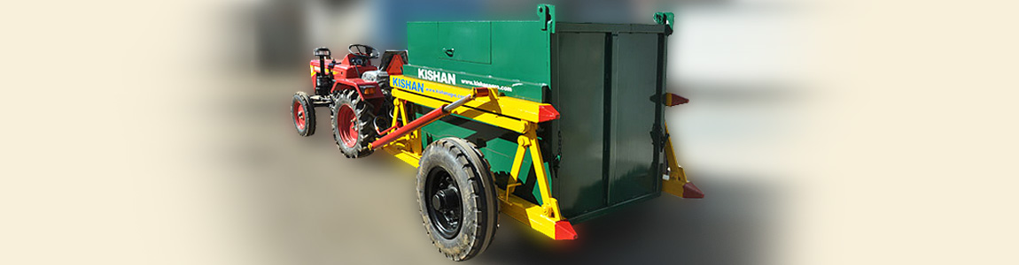 Tractor Drawn Hydraulic Garbage Carrier