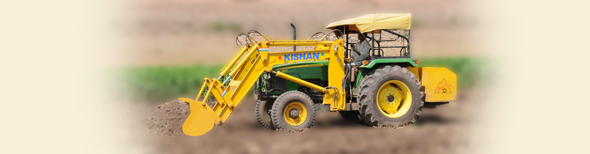 Hydraulic Tractor Loader for Soil Digging | Kishan Equipments