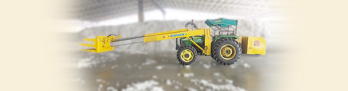 Telescopic Front End Loaders for Raw Cotton | Kishan Equipments